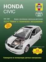 Honda Civic (Хонда Цивик). Руководство по ремонту, инструкция по эксплуатации. Модели с 2001 по 2005 год выпуска, оборудованные бензиновыми и дизельными двигателями