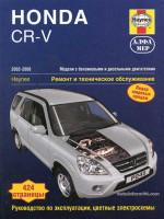 Honda CR-V (Хонда ЦР-В). Руководство по ремонту, инструкция по эксплуатации. Модели с 2002 по 2006 год выпуска, оборудованные бензиновыми и дизельными двигателями
