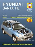 Hyundai Santa Fe (Хюндай Санта Фе). Руководство по ремонту, инструкция по эксплуатации. Модели с 2001 по 2006 год выпуска, оборудованные бензиновыми двигателями