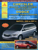 Chrysler Voyager / Grand Voyager / Town / Country / Dodge Caravan / Grand Caravan (Крайслер Вояджер / Гранд Вояджер / Таун / Кантри / Додж Караван / Гранд Караван). Руководство по ремонту, инструкция по эксплуатации. Модели с 2000 по 2007 год выпуска