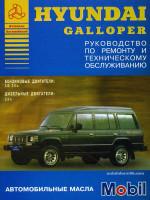 Hyundai Galloper (Хюндай Галопер). Руководство по ремонту. Модели с 1991 года выпуска, оборудованные бензиновыми и дизельными двигателями