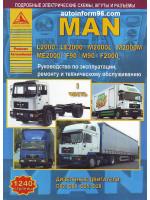 MAN L2000 / LE2000 / M2000L / M2000M / ME2000 / F90 / M90 / F2000 (МАН Л2000 / МАН ФЕ2000). Руководство по ремонту в двух томах, инструкция по эксплуатации, техническое обслуживание