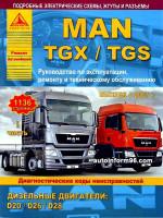MAN TGX / TGS (МАН ТГХ / ТГС). Руководство по ремонту в двух томах, инструкция по эксплуатации, техническое обслуживание. Модели с 2007 года выпуска