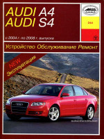 Audi А4 / S4 (Ауди А4 / С4). Руководство по ремонту, инструкция по эксплуатации. Модели выпускаемые с 2004 по 2008 год, оборудованные бензиновыми и дизельными двигателями.