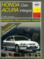 Honda Civic / Acura Integra (Хонда Цивик / Акура Интегра). Руководство по ремонту, инструкция по эксплуатации. Модели с 1994 по 1998 год выпуска, оборудованные бензиновыми двигателями