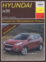 Hyundai ix35 (Хюндай Икс35). Руководство по ремонту, инструкция по эксплуатации. Модели с 2010 года, оборудованные бензиновыми и дизельными двигателями.