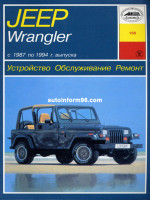 Jeep Wrangler (Джип Вранглер). Руководство по ремонту, инструкция по эксплуатации. Модели с 1987 по 1994 год выпуска, оборудованные бензиновыми двигателями