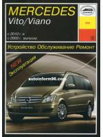 Mercedes Vito / Viano (Мерседес Вито / Виано). Руководство по ремонту, инструкция по эксплуатации. Модели с 2003 года выпуска, оборудованные бензиновыми и дизельными двигателями.