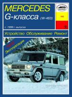Mercedes Gelandevagen W463 (Мерседес Гелендваген В463). Руководство по ремонту, инструкция по эксплуатации. Модели с 1999 года выпуска, оборудованные бензиновыми и дизельными двигателями