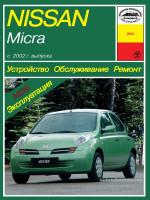 Nissan Micra (Ниссан Микра). Руководство по ремонту, инструкция по эксплуатации. Модели с 2002 года выпуска, оборудованные бензиновыми двигателями