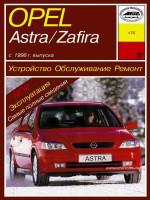 Opel Astra / Zafira (Опель Астра / Зафира). Руководство по ремонту, инструкция по эксплуатации. Модели с 1998 года выпуска, оборудованные бензиновыми и дизельными двигателями
