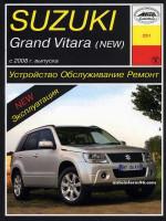 Suzuki Grand Vitara (Сузуки Гран Витара). Руководство по ремонту, инструкция по эксплуатации. Модели с 2008 года выпуска, оборудованные бензиновыми двигателями
