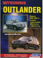 Mitsubishi Outlander (Мицубиси Аутлендер). Руководство по ремонту, инструкция по эксплуатации. Модели с 2002 по 2007 год выпуска, оборудованные бензиновыми двигателями