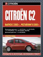 Citroen C2 (Ситроэн Ц2). Руководство по ремонту, инструкция по эксплуатации. Модели с 2003 года выпуска, оборудованные бензиновыми и дизельными двигателями