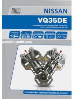 Двигатели Nissan (Ниссан) VQ35DE. Устройство, руководство по ремонту, техническое обслуживание