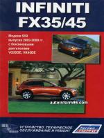Infiniti FX 35 / FX 45 (Инфинити ФХ35 / ФХ45). Инструкция по эксплуатации, техническое обслуживание. Модели с 2003 года выпуска, оборудованные бензиновыми двигателями