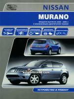 Nissan Murano (Ниссан Мурано). Руководство по ремонту, инструкция по эксплуатации. Модели с 2002 по 2008 год выпуска, оборудованные бензиновыми двигателями
