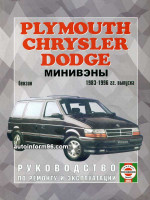 Dodge Caravan / Chrysler Voyager / Plymouth Town / Country (Додж Караван / Крайслер Вояджер / Плимаус Таун / Кантри). Руководство по ремонту, инструкция по эксплуатации. Модели с 1983 по 1996 год выпуска, оборудованные бензиновыми двигателями