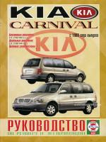 Kia Carnival (Киа Карнивал). Руководство по ремонту, инструкция по эксплуатации. Модели с 1999 года выпуска, оборудованные бензиновыми и дизельными двигателями