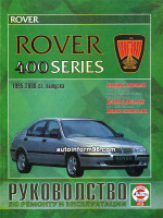 Rover 400 (Ровер 400). Руководство по ремонту, инструкция по эксплуатации. Модели с 1995 по 2000 год выпуска, оборудованные бензиновыми и дизельными двигателями