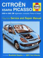 Citroen Xsara Picasso (Ситроен Ксара Пикассо). Руководство по ремонту, инструкция по эксплуатации. Модели с 2000 по 2002 год выпуска, оборудованные бензиновыми и дизельными двигателями