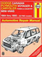 Dodge Caravan / Plymouth Voyager / Chrysler Town / Country / Mini-Vans (Додж Караван / Крайслер Таун / Кантри / Плимаус Вояджер). Руководство по ремонту, инструкция по эксплуатации. Модели с 1984 по 1995 год выпуска, оборудованные бензиновыми двигателями