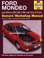 Ford Mondeo (Форд Мондео). Руководство по ремонту, инструкция по эксплуатации. Модели с 2003 по 2007 год выпуска, оборудованные бензиновыми и дизельными двигателями