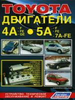 Двигатели Toyota (Тойота) 4A-F / 4A-FE / 4A-GE / 5A-F / 5A-FE / 5A-7A-FE. Руководство по ремонту, техническое обслуживание