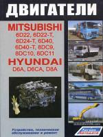Двигатели Mitsubishi (Мицубиси) 6D22 / 6D22-T / 6D24-Т / 6D40 / 6D40-Т / 8DС9 / 8DС10 / 8DС11, Hyundai (Хундай) D6A / D6СА / D8А.