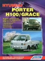 Hyundai H-100 / Porter / Grace (Хюндай Х100 / Портер / Грейс). Руководство по ремонту, инструкция по эксплуатации. Модели с 1984 по 1999 год выпуска, оборудованные бензиновыми и дизельными двигателями