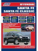 Hyundai Santa Fe / Santa Fe Classic (Хундай Санта Фе / Хундай Санта Фе Классик). Руководство по ремонту, инструкция по эксплуатации. Модели с 2000 по 2006 год выпуска, оборудованные бензиновыми и дизельными двигателями.