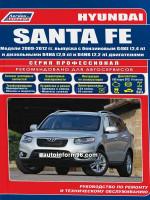 Hyundai Santa Fe (Хюндай Санта Фе). Руководство по ремонту, инструкция по эксплуатации. Модели с 2009 по 2012 год выпуска, оборудованные бензиновыми и дизельными двигателями