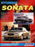 Hyundai Sonata V (Хюндай Соната 5). Инструкция по ремонту, пособие по эксплуатации. Модели с 2001 года выпуска, оборудованные бензиновыми двигателями