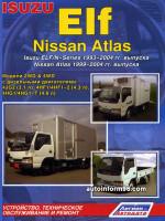 Isuzu Elf / N-Series  / Nissan Atlas (Исузу Эльф / Н-Сериес / Ниссан Атлас). Руководство по ремонту, инструкция по эксплуатации. Модели с 1993 по 2004 год выпуска, оборудованные дизельными двигателями
