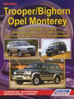 Isuzu Trooper / Bighorn / Opel Monterey (Исузу Трупер / Бигхорн / Опель Монтерей). Руководство по ремонту, инструкция по эксплуатации. Модели с 1991 по 2002 год выпуска, оборудованные бензиновыми и дизельными двигателями