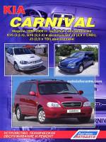 Kia Carnival (Киа Карнивал). Руководство по ремонту, инструкция по эксплуатации. Модели с 1998 по 2006 год выпуска, оборудованные бензиновыми и дизельными двигателями