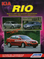 Kia Rio (Киа Рио). Руководство по ремонту, инструкция по эксплуатации. Модели с 2005 года выпуска, оборудованные бензиновыми двигателями