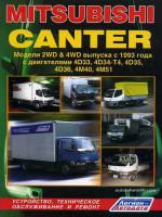 Mitsubishi Canter (Мицубиси Кантер). Руководство по ремонту, инструкция по эксплуатации. Модели с 1993 года выпуска, оборудованные дизельными двигателями