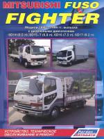 Mitsubishi Fuso Fighter (Мицубиси Фусо Файтер). Руководство по ремонту, инструкция по эксплуатации. Модели с 1990 по 1999 год выпуска, оборудованные дизельными двигателями.