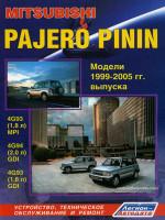 Mitsubishi Pajero Pinin (Мицубиси Паджеро Пинин). Руководство по ремонту, инструкция по эксплуатации. Модели с 1999 по 2005 год выпуска, оборудованные бензиновыми двигателями
