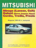 Mitsubishi Galant (Мицубиси Галант). Руководство по ремонту, инструкция по эксплуатации. Модели с 1983 по 1993 год выпуска, оборудованные бензиновыми двигателями