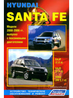 Hyundai Santa Fe (Хюндай Санта Фе). Руководство по ремонту, инструкция по эксплуатации. Модели с 2000 по 2006 год выпуска, оборудованные бензиновыми двигателями