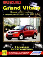 Suzuki Grand Vitara (Сузуки Гранд Витара). Руководство по ремонту в фотографиях, инструкция по эксплуатации. Модели с 2005 года выпуска, оборудованные бензиновыми двигателями