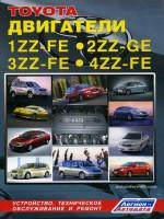 Двигатели Toyota (Тойота) 1ZZ-FE / 2ZZ-GE / 3ZZ-FE / 4ZZ-FE. Устройство, руководство по ремонту, техническое обслуживание