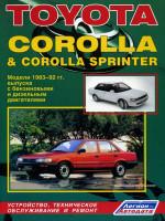 Toyota Corolla / Corolla Sprinter (Тойота Королла / Королла Спринтер). Руководство по ремонту. Модели с 1983 по 1992 год выпуска, оборудованные бензиновыми и дизельными двигателями