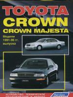 Toyota Crown / Crown Majesta (Тойота Краун / Краун Маджеста). Руководство по ремонту, инструкция по эксплуатации. Модели с 1991 по 1996 год выпуска, оборудованные бензиновыми и дизельными двигателями