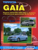 Toyota Gaia (Тойота Гайя). Руководство по ремонту, инструкция по эксплуатации. Модели с 1998 по 2002 год выпуска, оборудованные бензиновыми двигателями