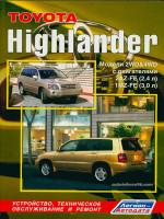 Toyota Highlander (Тойота Хайлендер). Руководство по ремонту, инструкция по эксплуатации. Модели, оборудованные бензиновыми двигателями