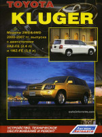 Toyota Kluger (Тойота Клюгер). Руководство по ремонту, инструкция по эксплуатации. Модели с 2000 по 2007 год выпуска, оборудованные бензиновыми двигателями