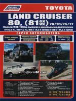 Toyota Land Cruiser 80 (Тойота Ленд Крузер 80). Руководство по ремонту, инструкция по эксплуатации. Модели с 1990 по 1998 год выпуска, оборудованные дизельными двигателями